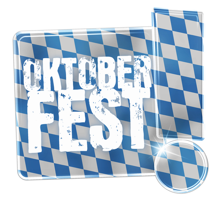 Oktoberfest Bavaria Button Icon Design Stock Photo - 29179934