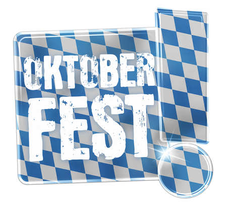 Oktoberfest Bavaria Button Icon Design photo
