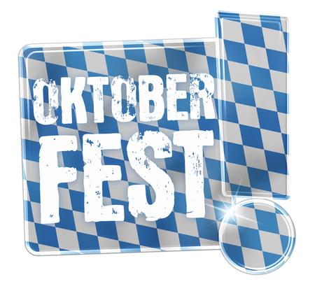 Oktoberfest Bavaria Button Icon Design Stock Photo - 29179935