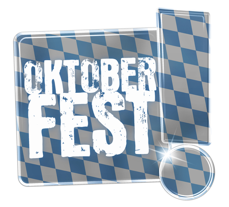 Oktoberfest Bavaria Button Icon Design Stock Photo - 29179936