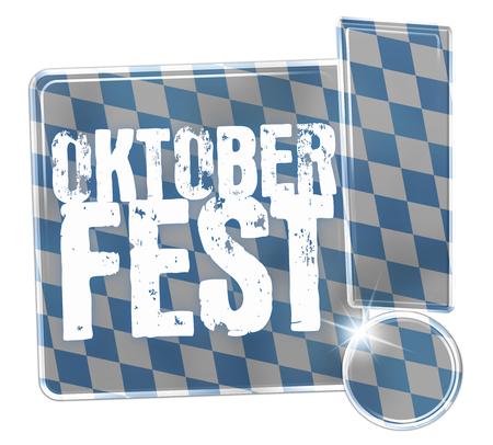 Oktoberfest Bavaria Button Icon Design Stock Photo - 29179936