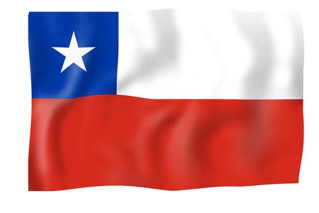 De Vlag van Chili Stockfoto