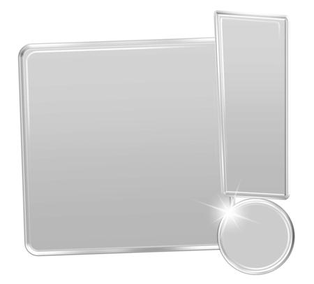 exclamation mark: Blank Icono marca de exclamaci�n Foto de archivo