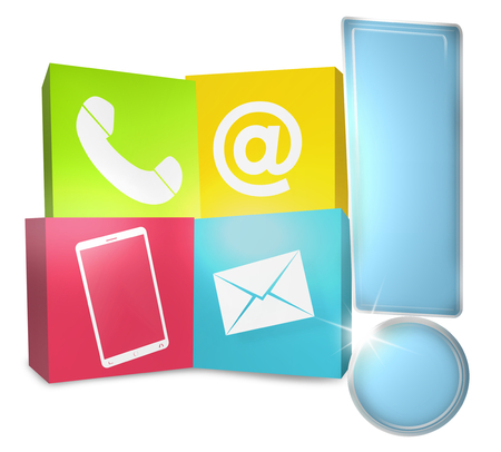 knowledgeable: Contact Us Icons Stock Photo
