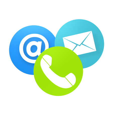 3d contact us: Contact Us Creative Icon Button Design Graphic Stock Photo