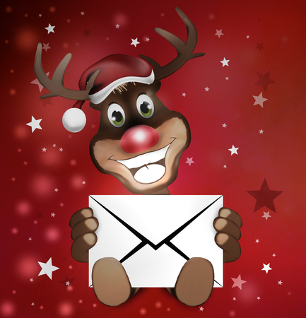 Paws Reindeer with letter photo