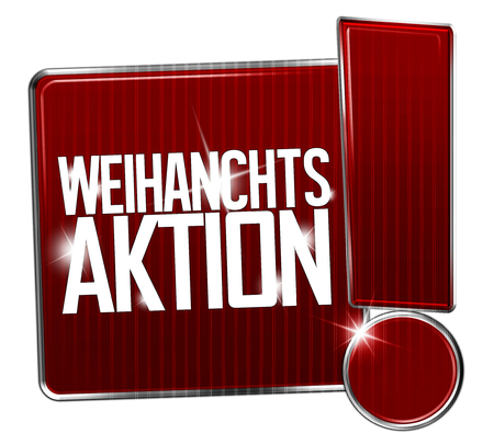 Christmas Sale in german language WEIHNACHTS AKTION photo