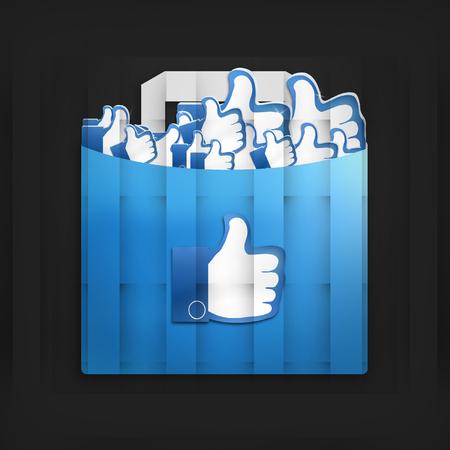 Thumbs Up Social Media Design