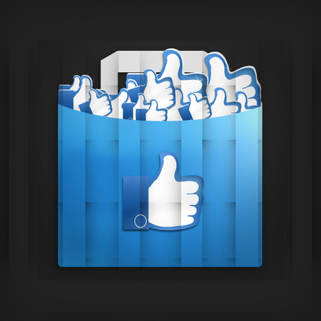 Thumbs Up Social Media Design photo