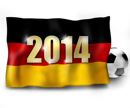 Football Soccer Flag Design photo
