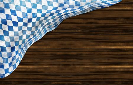 Oktoberfest Bavaria Wood Flag Design
