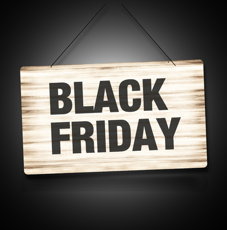 Black Firday Sale Wood Sign photo
