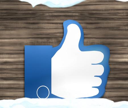 Thumbs Up Winter-Schnee-Weihnachtsentwurf