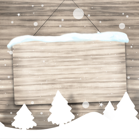 robust: Christmas Wood Background Sign