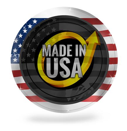 Gemaakt in Amerika Stockfoto