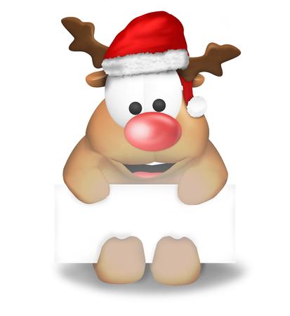 Cute Christmas Reindeer photo