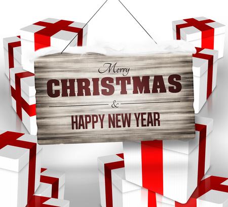 Reindeer Christmas Background Design