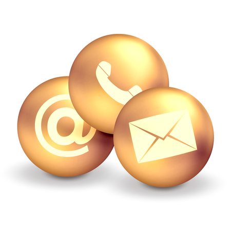 Contact Us Icons Standard-Bild