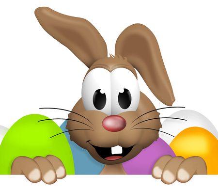 easter sign: Happy Easter Bunny