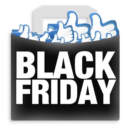 Black Friday Shopping Likes Stock Photo