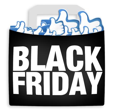 likes: Black Friday Shopping Likes Stock Photo