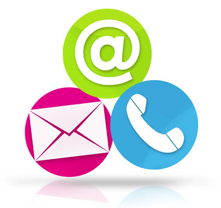 3d contact us: Contact Us Icons Stock Photo