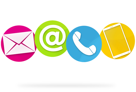 email us: Contact Us Icons Stock Photo