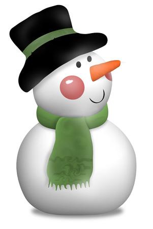 jahreswechsel: Snowman 3D Stock Photo