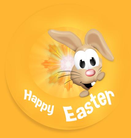 rabit: Happy Easter Happy Feeling Bunny