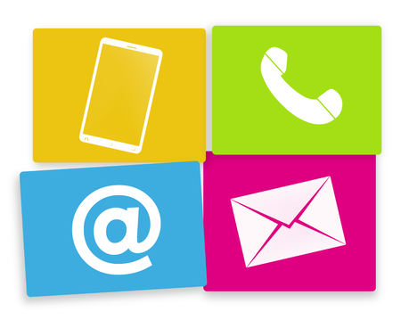 contact us colored fresh design icons