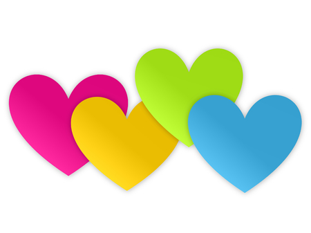 4 of a kind: Colorful Hearts