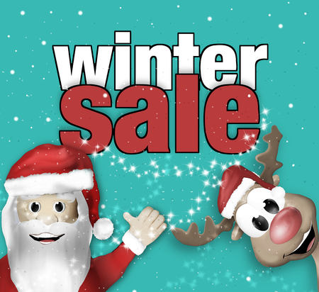 christams: Christams Winter Sale Stock Photo