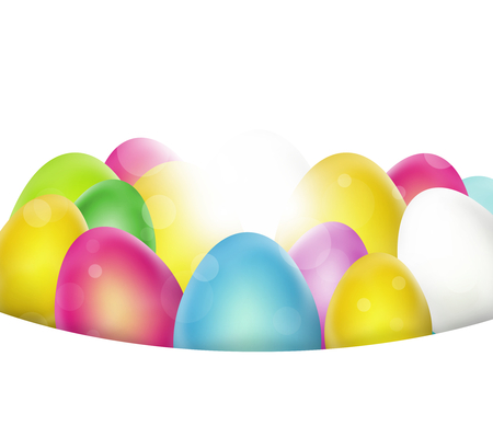 exempted: Easter Eggs Festive Design Stock Photo
