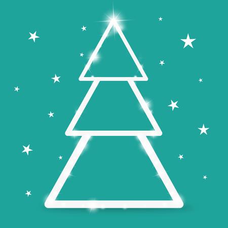 weihnachtsbaum: Christmas Tree Festive Feeling Stock Photo