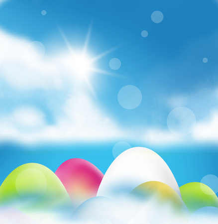 sequential: Easter eggs color and sunshine