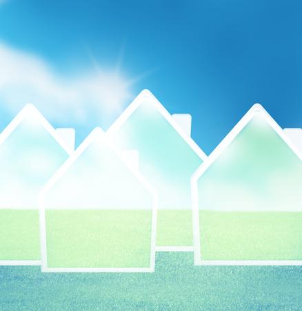 feel good: Sunny weather sky design Stock Photo