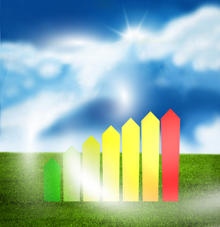 environmentally friendly: Environmentally friendly sunny sky