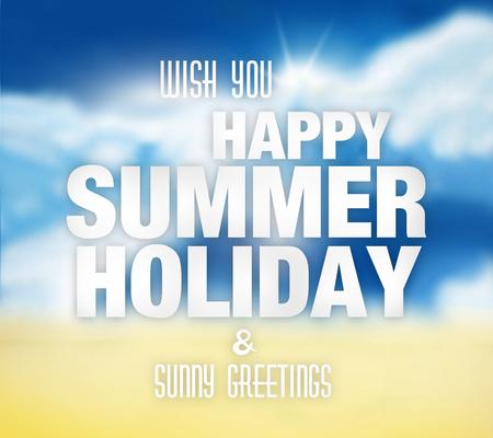 colorfully: Summer Holiday sunny sky