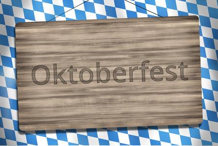 darkwood: Okotberfest Bavaria Wood Sign Graphic Illustration