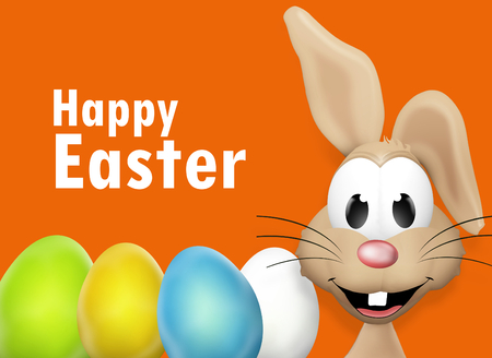 easter rabbit: Easter Bunny and Easter Eggs