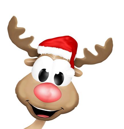 carita feliz: Reno de Navidad cara feliz
