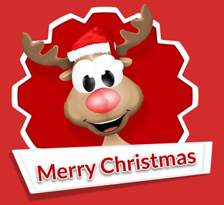 Het Rendier van Kerstmis Vrolijk kerstfeest