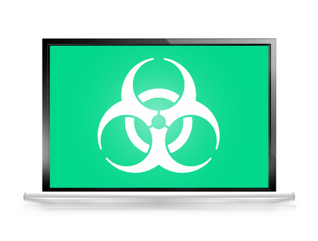 biohazard: Alert computer screen Biohazard