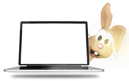 user friendly: Easter Bunny laptop