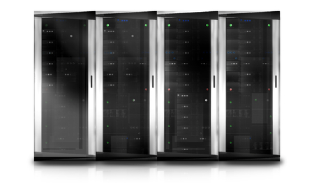 Server Tower Stock Photo