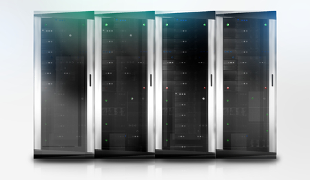 webspace: Server Tower Stock Photo