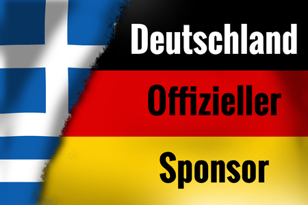 sponsor: germany official sponsor Stock Photo