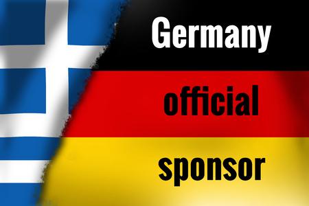 sponsor: germany official sponsor Stock Photo