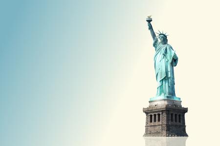 statue liberty: Statue of Liberty light colored background Stock Photo