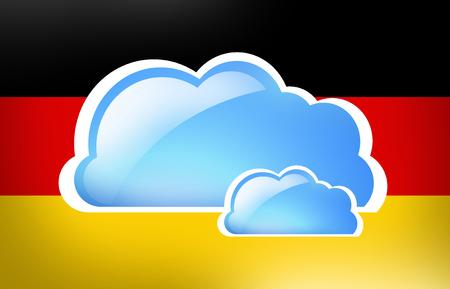 webhoster: Germany Flag Cloud